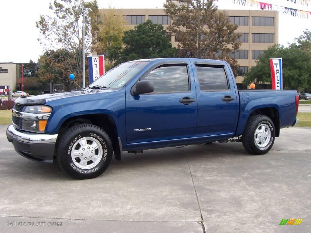 2005 chevrolet colorado ls crew cab superior blue metallic color. Cars Review. Best American Auto & Cars Review