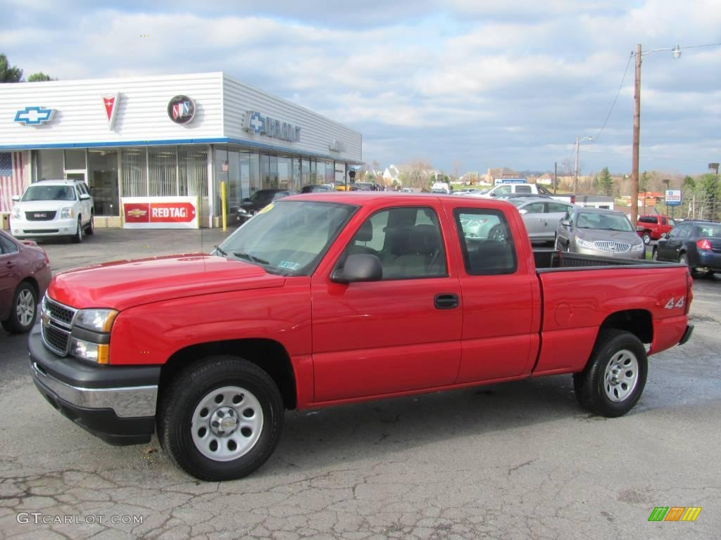 2006 Silverado 1500 Work Truck Extended Cab 4x4 - Victory Red / Dark Charcoal photo #1