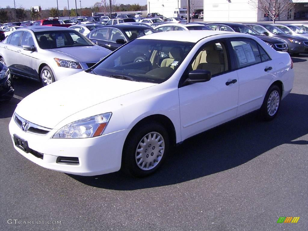 2006 Taffeta White Honda Accord Value Package Sedan
