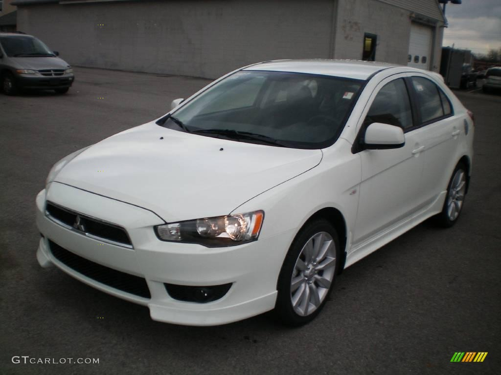 2010 wicked white metallic mitsubishi lancer sportback gts 21993051 car color. Black Bedroom Furniture Sets. Home Design Ideas
