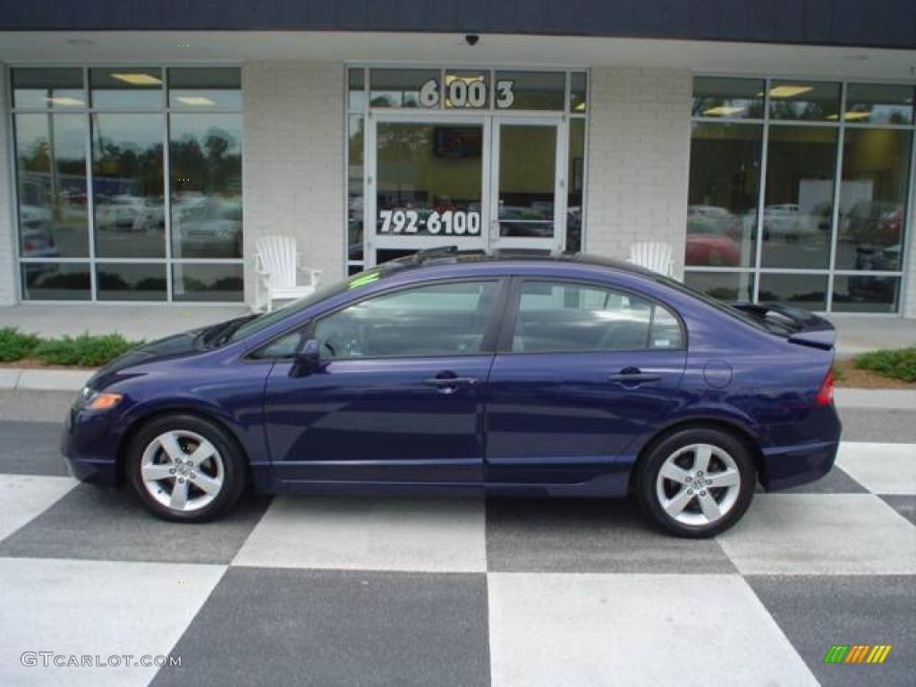 Royal Blue Pearl Honda Civic. Honda Civic EX Sedan