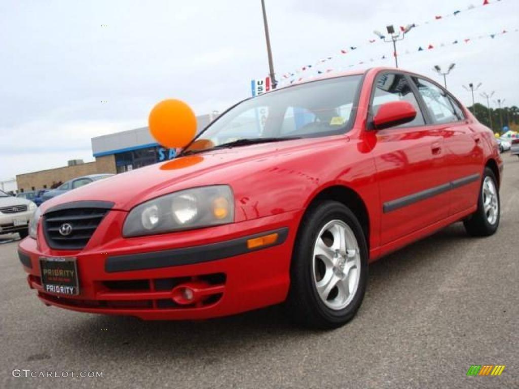 2004 rally red hyundai elantra gt sedan 22049723. Black Bedroom Furniture Sets. Home Design Ideas