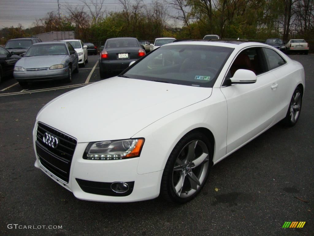 2009 ibis white audi a5 3 2 quattro coupe 22134377 car color galleries. Black Bedroom Furniture Sets. Home Design Ideas