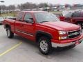 2006 Victory Red Chevrolet Silverado 1500 LT Extended Cab 4x4  photo #3