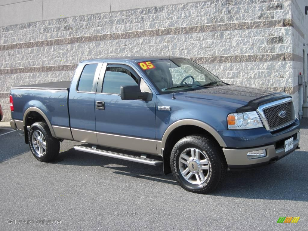 2005 Medium Wedgewood Blue Metallic Ford F150 Lariat