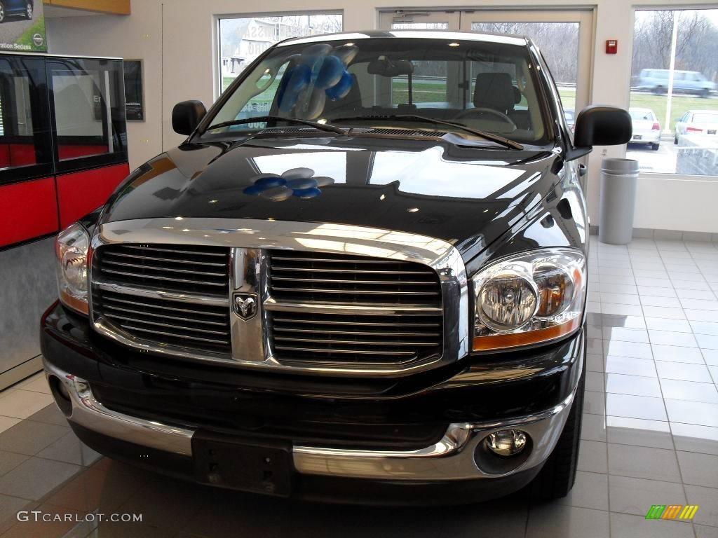 2006 brilliant black crystal pearl dodge ram 1500 big horn edition quad cab 22155621 gtcarlot. Black Bedroom Furniture Sets. Home Design Ideas