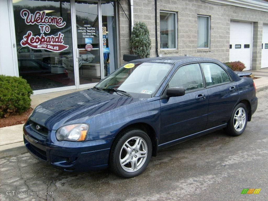 2005 regal blue pearl subaru impreza 2.5 rs sedan #22208704