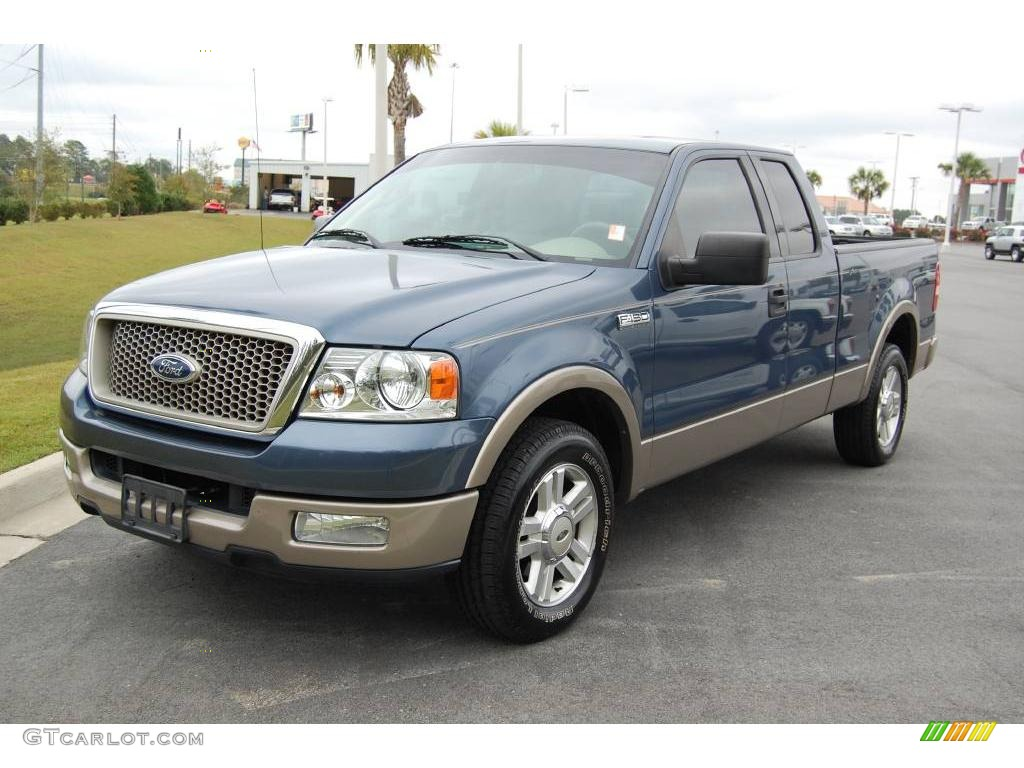 2004 medium wedgewood blue metallic ford f150 lariat. Black Bedroom Furniture Sets. Home Design Ideas