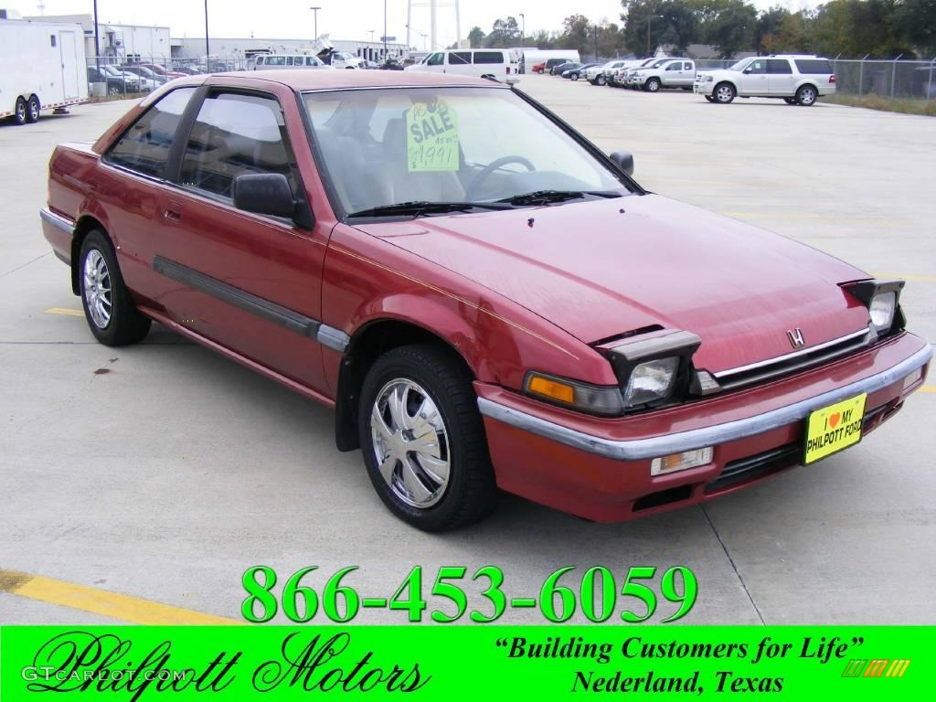 1989 Chateau Red Metallic Honda Accord LXi Coupe 22206907