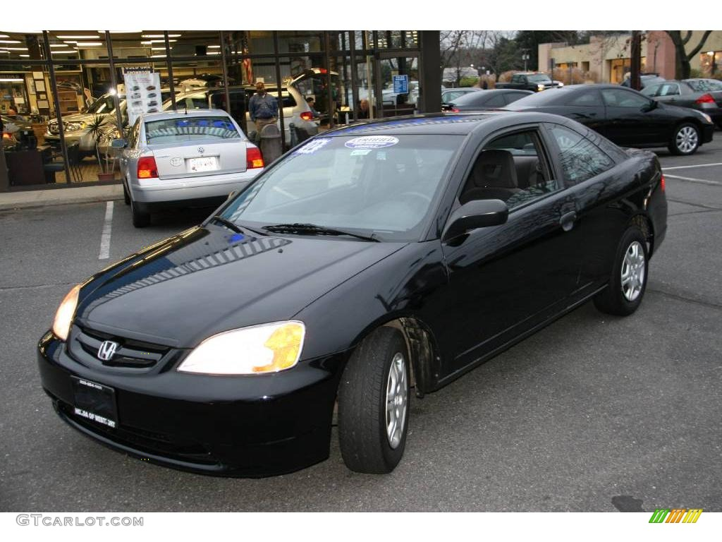 2002 nighthawk black pearl honda civic dx coupe 22199770. Black Bedroom Furniture Sets. Home Design Ideas