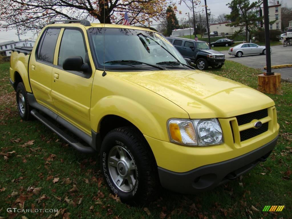 2003 zinc yellow ford explorer sport trac xlt 4x4 22193006 photo 4 car color. Black Bedroom Furniture Sets. Home Design Ideas