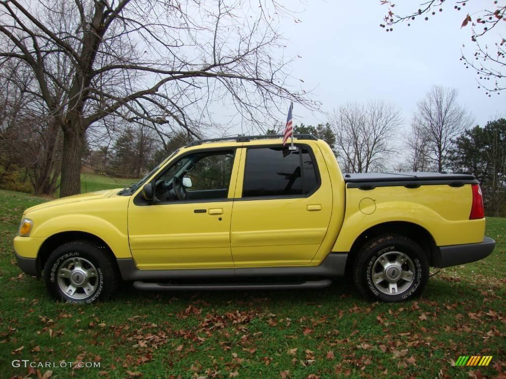 2003 Zinc Yellow Ford Explorer Sport Trac XLT 4x4 22193006 Photo 9 GTCarL