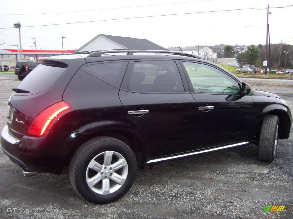 2006 Murano SL AWD - Super Black / Charcoal photo #4