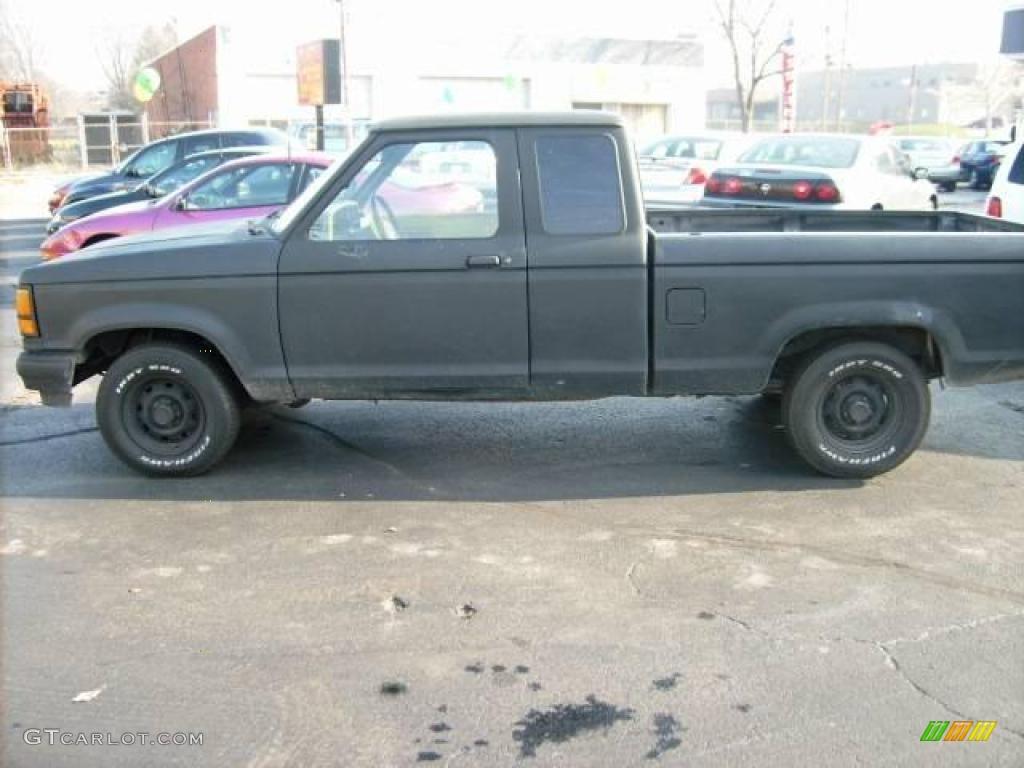 1991 Black Ford Ranger Custom Extended Cab 22155944