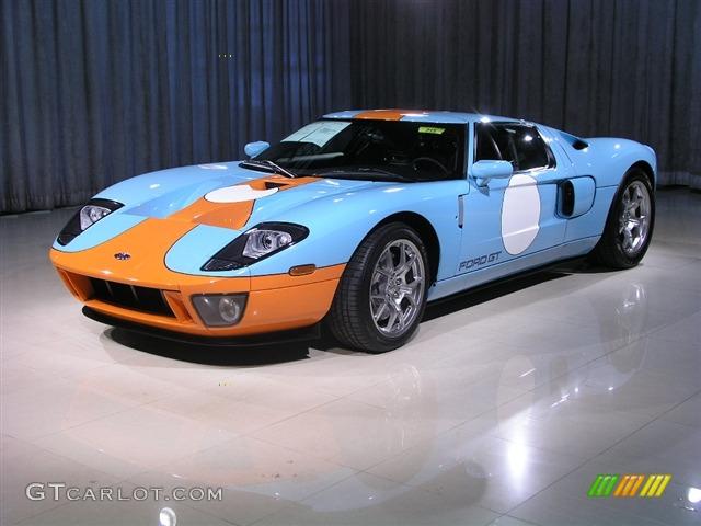 Blue Orange Ford Gt Heritage