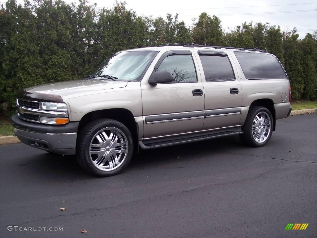 2002 light pewter metallic chevrolet suburban 1500 ls 4x4 22325540 car color. Black Bedroom Furniture Sets. Home Design Ideas