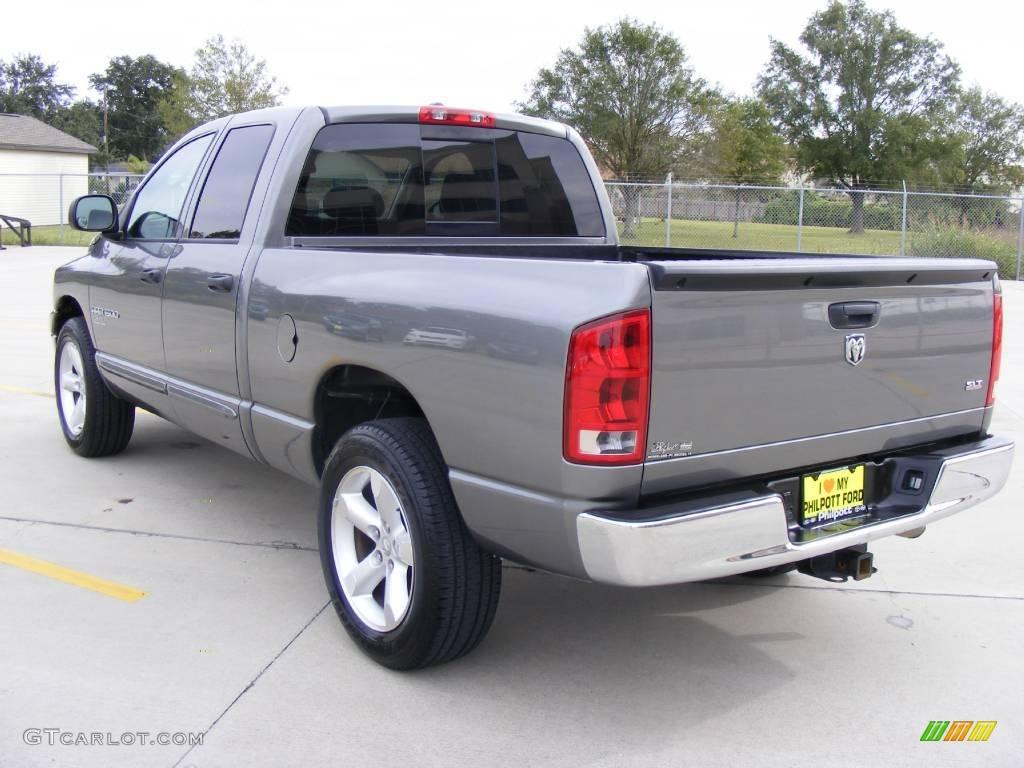 2006 Ram 1500 SLT Quad Cab - Mineral Gray Metallic / Medium Slate Gray photo #5