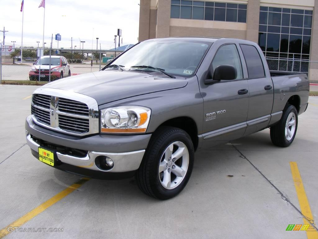 2006 Ram 1500 SLT Quad Cab - Mineral Gray Metallic / Medium Slate Gray photo #7