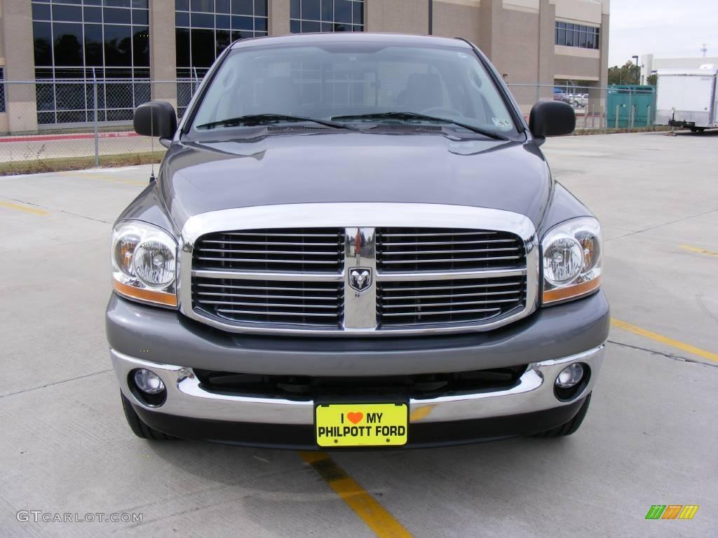 2006 Ram 1500 SLT Quad Cab - Mineral Gray Metallic / Medium Slate Gray photo #8