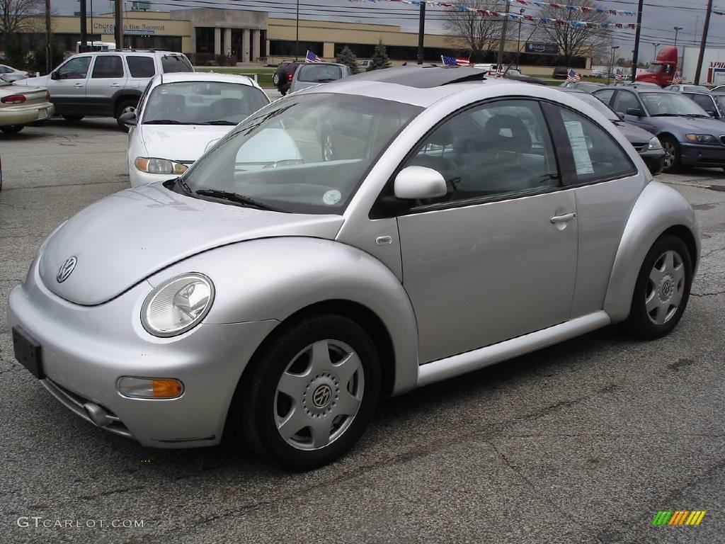 1999 new beetle gls coupe silver metallic gray photo 1