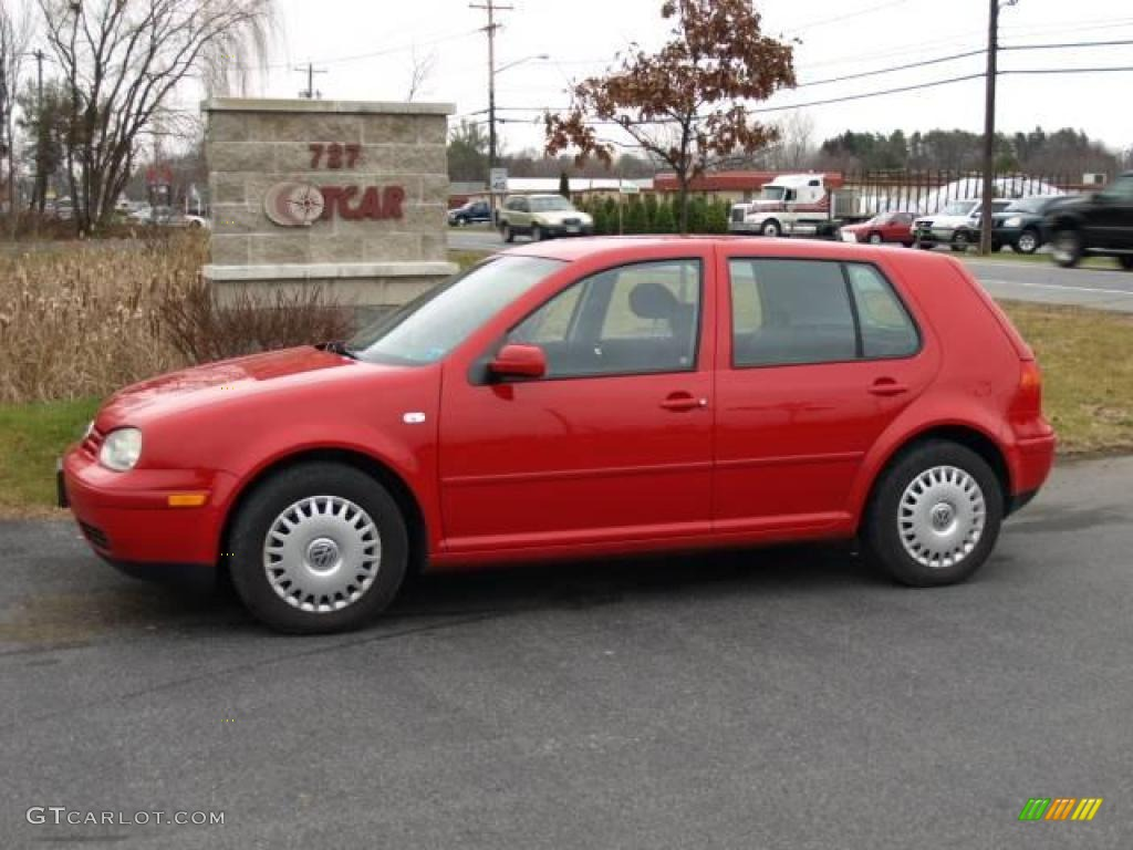 2001 tornado red volkswagen golf gls 4 door 22275286. Black Bedroom Furniture Sets. Home Design Ideas