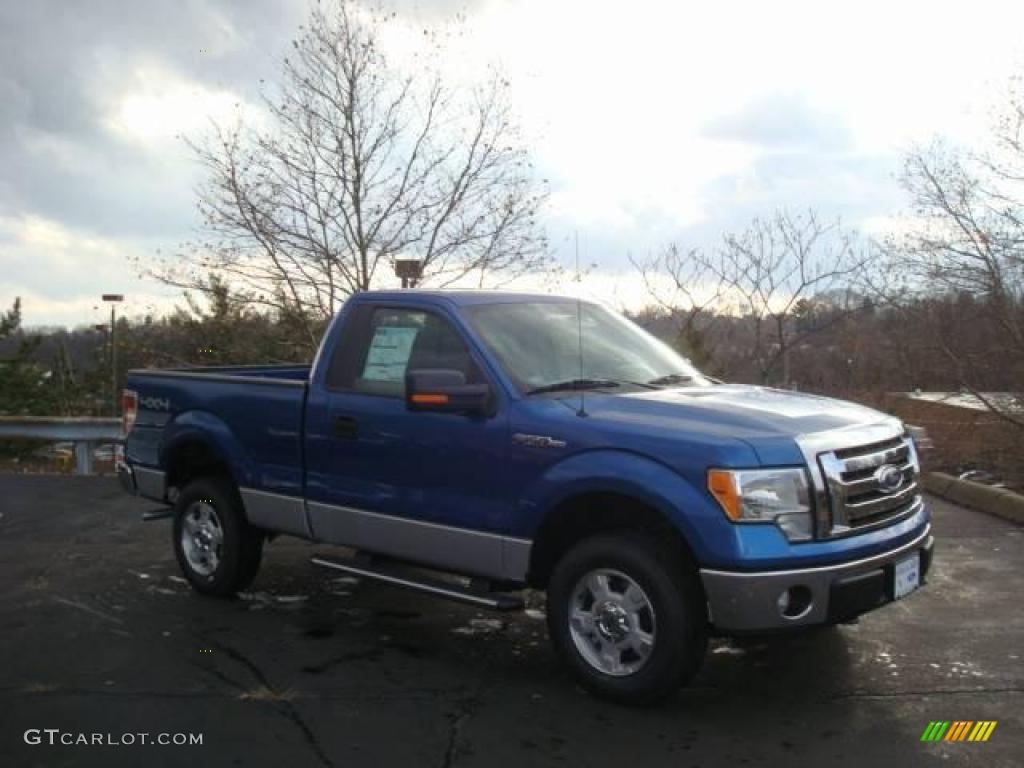2010 blue flame metallic ford f150 xlt regular cab 4x4 22294865 car color. Black Bedroom Furniture Sets. Home Design Ideas
