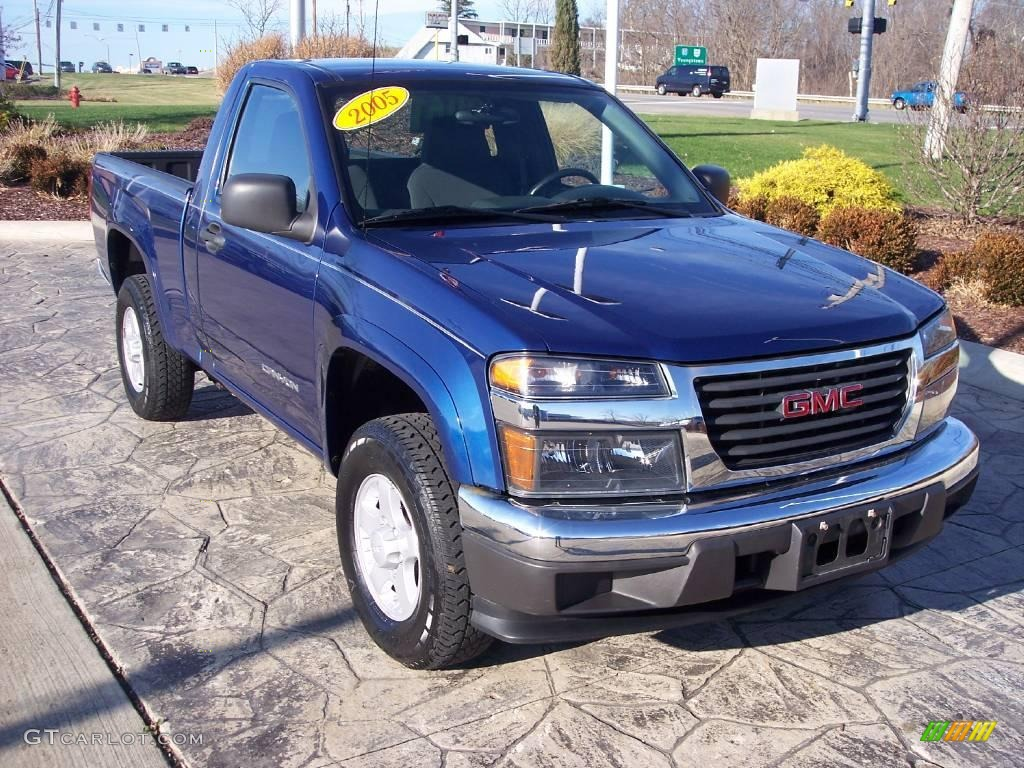 2005 superior blue metallic gmc canyon sle regular cab 4x4. Black Bedroom Furniture Sets. Home Design Ideas