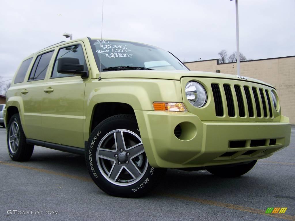 2010 optic green metallic jeep patriot sport 4x4 22313924. Black Bedroom Furniture Sets. Home Design Ideas