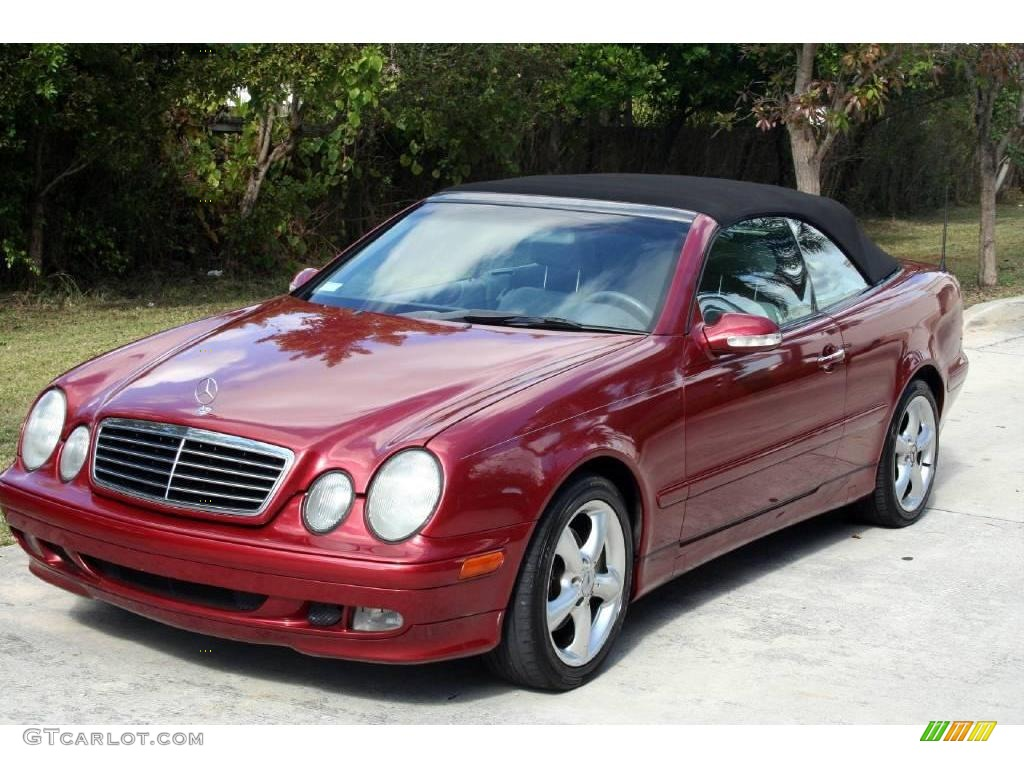 2003 firemist red metallic mercedes benz clk 320 cabriolet for 2003 mercedes benz clk