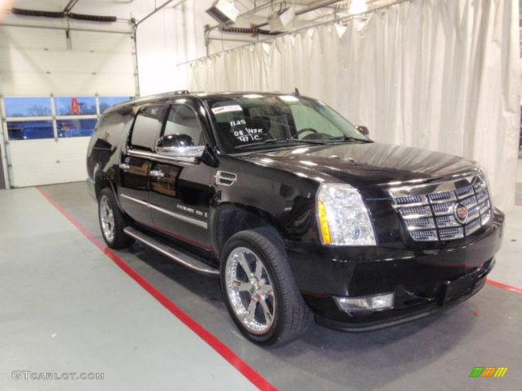 2008 Escalade ESV AWD - Black Raven / Ebony photo #1