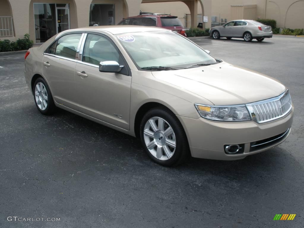 2008 MKZ Sedan - Dune Pearl Metallic / Light Stone photo #1