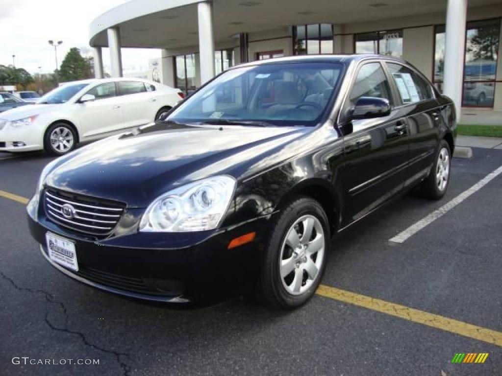 2007 Ebony Black Kia Optima Lx 22322523 Gtcarlot Com