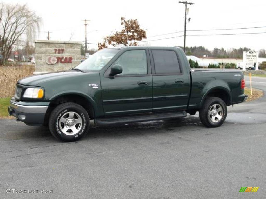 2001 ford f150 xlt supercrew 4x4 dark highland green metallic color. Cars Review. Best American Auto & Cars Review