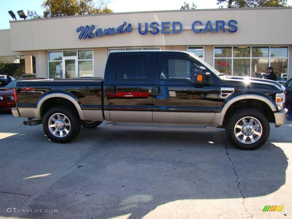 2008 black ford f250 super duty king ranch crew cab 4x4. Black Bedroom Furniture Sets. Home Design Ideas
