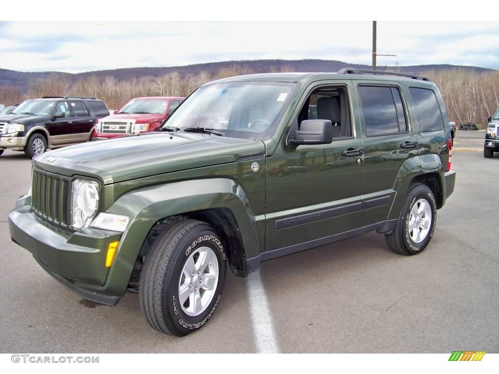 Wonderful 2009 Liberty Sport 4x4   Jeep Green Metallic / Dark Slate Gray Photo #1