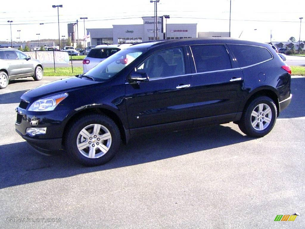 2010 dark blue metallic chevrolet traverse lt 22333824. Black Bedroom Furniture Sets. Home Design Ideas