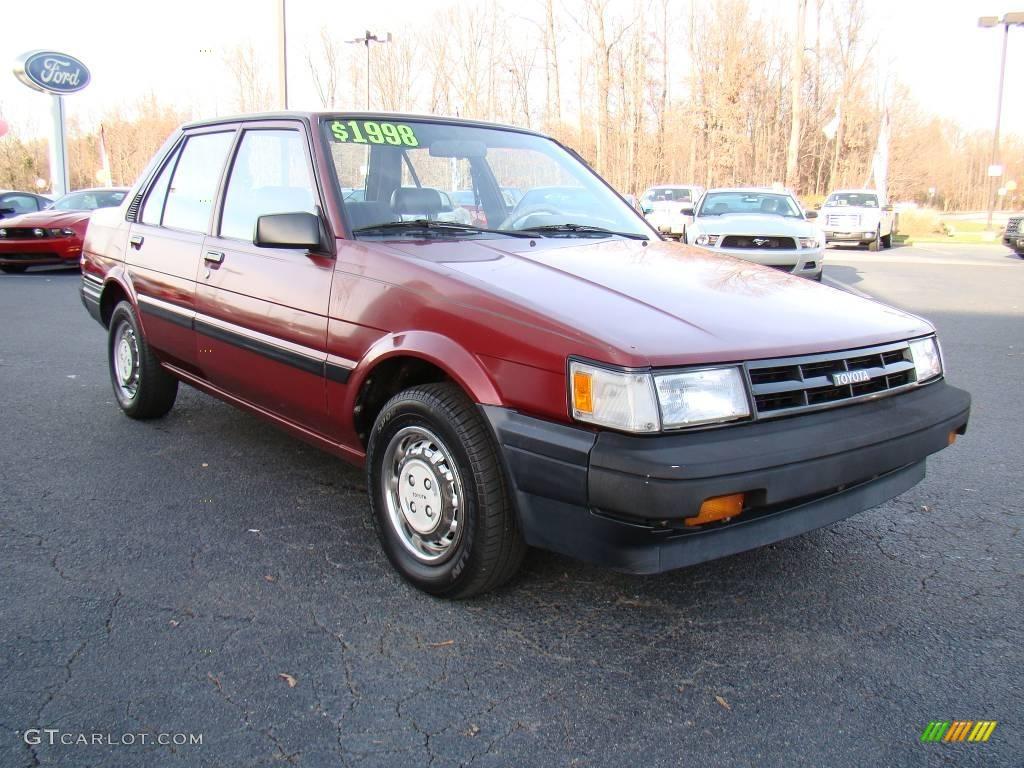 1987 Wine Red Metallic Toyota Corolla Deluxe 22552841 Photo 10