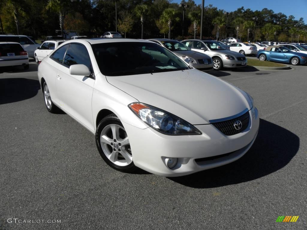 Arctic frost pearl white toyota solara