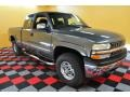 2000 Charcoal Gray Metallic Chevrolet Silverado 1500 LS Extended Cab 4x4  photo #1