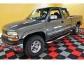 2000 Charcoal Gray Metallic Chevrolet Silverado 1500 LS Extended Cab 4x4  photo #3