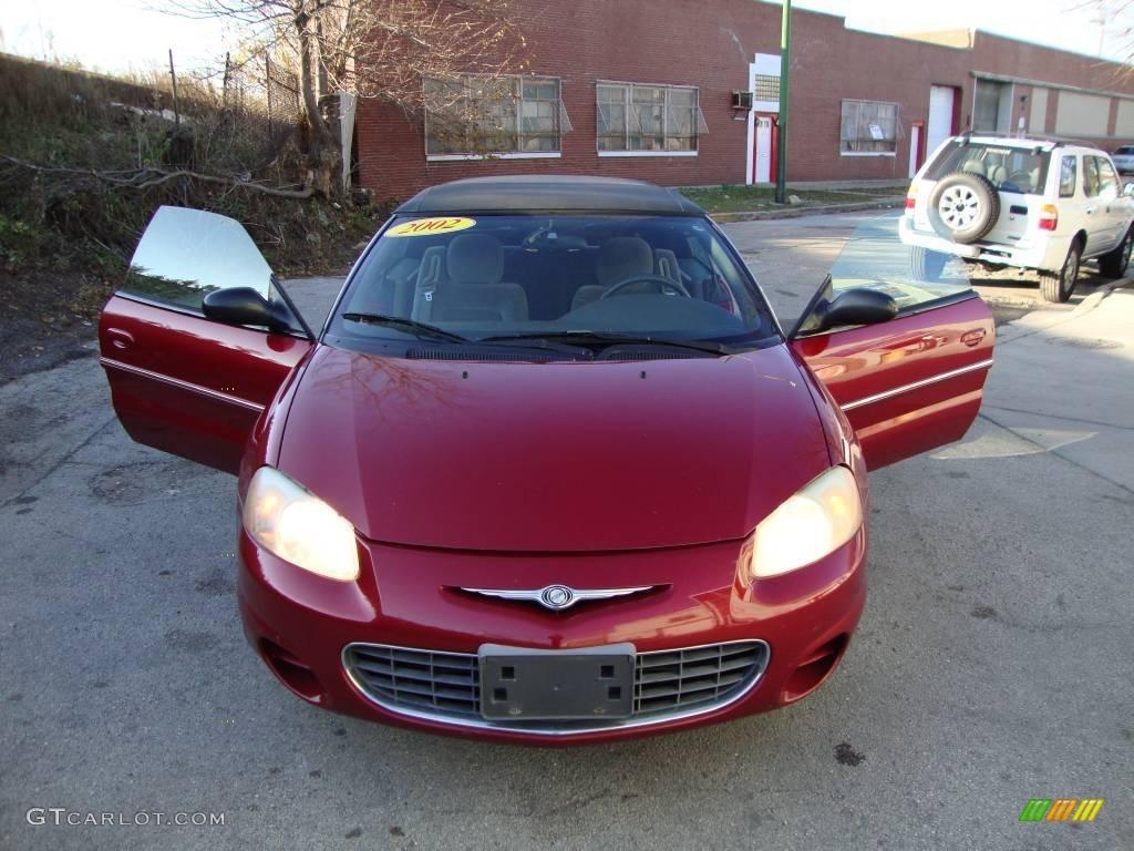 2002 Sebring LX Convertible - Dark Garnet Red Pearl / Dark Slate Gray photo #1