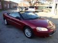 2002 Dark Garnet Red Pearl Chrysler Sebring LX Convertible  photo #16