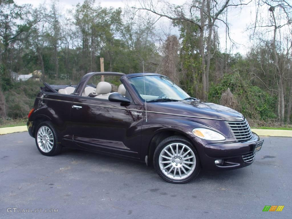 2005 dark plum pearl chrysler pt cruiser gt convertible. Black Bedroom Furniture Sets. Home Design Ideas