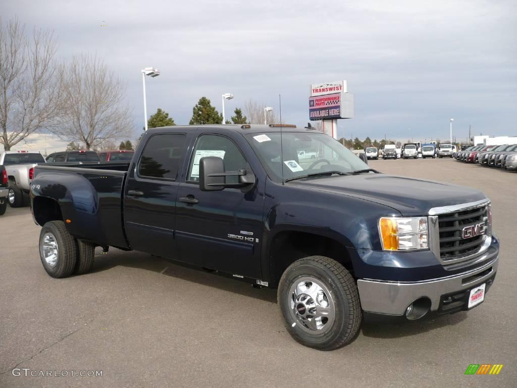 Midnight blue metallic gmc sierra 3500hd