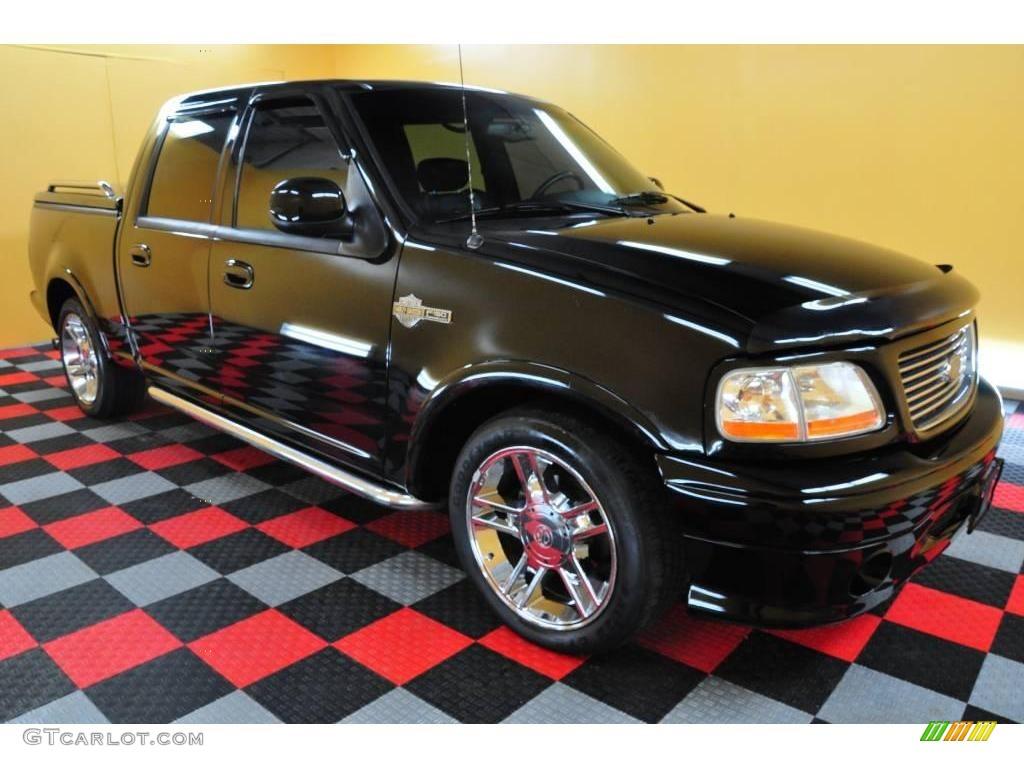 2002 black ford f150 harley davidson supercrew 22558479 photo 9 car color. Black Bedroom Furniture Sets. Home Design Ideas
