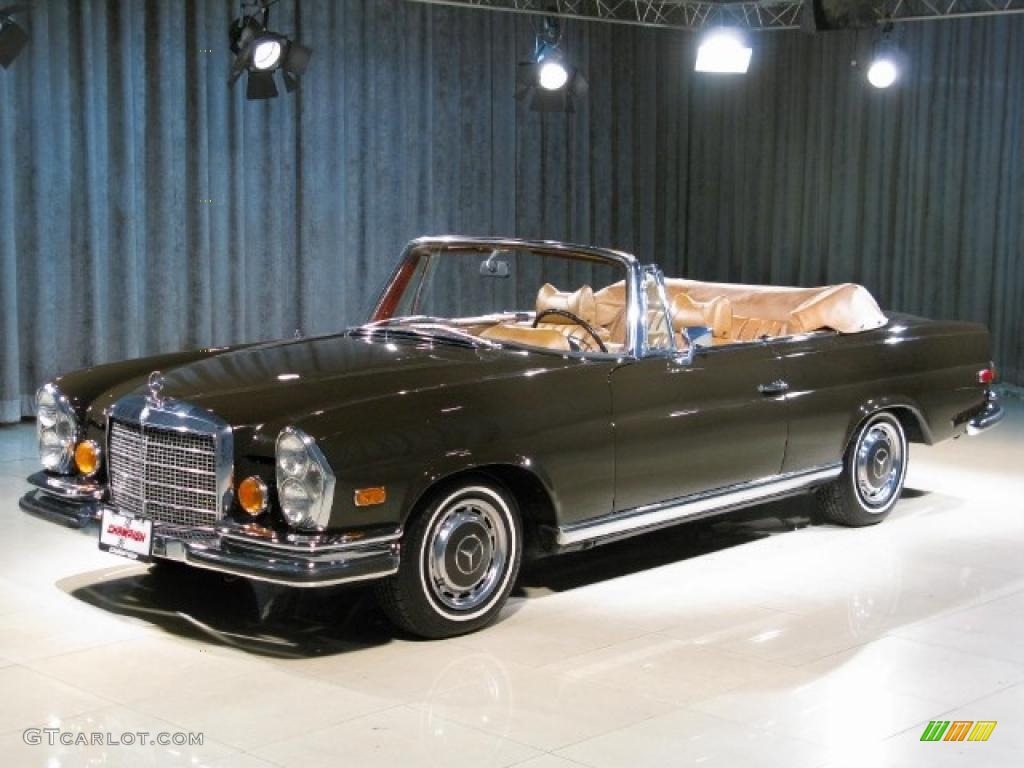 1970 brown mercedes benz 280 se convertible 22565667 for Brown mercedes benz