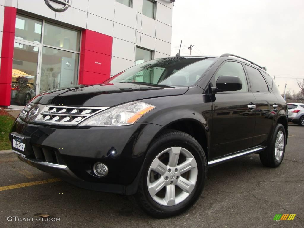 2006 Murano SL AWD - Super Black / Charcoal photo #1