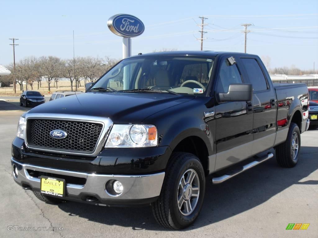 2007 Black Ford F150 Xlt Supercrew 4x4 2253981 Gtcarlot