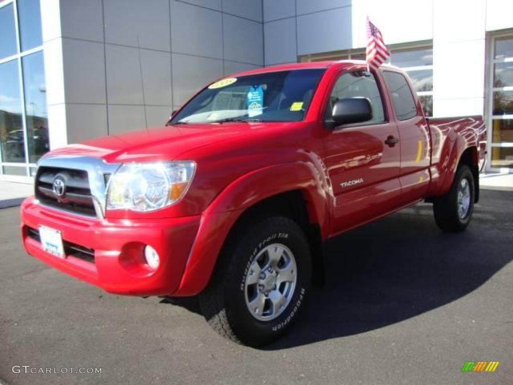 2005 radiant red toyota tacoma v6 trd access cab 4x4. Black Bedroom Furniture Sets. Home Design Ideas