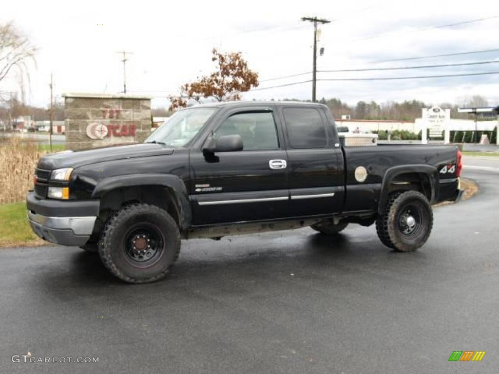 2004 Black Chevrolet Silverado 2500hd Ls Extended Cab 4x4 22687693 2006 Dodge Ram Fuel Filter Location Dark Charcoal Photo 1